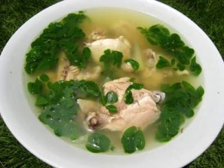lutong bahay recipe-chicken and malunggay soup
