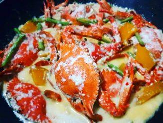 lutong bahay recipe-ginataang alimasag