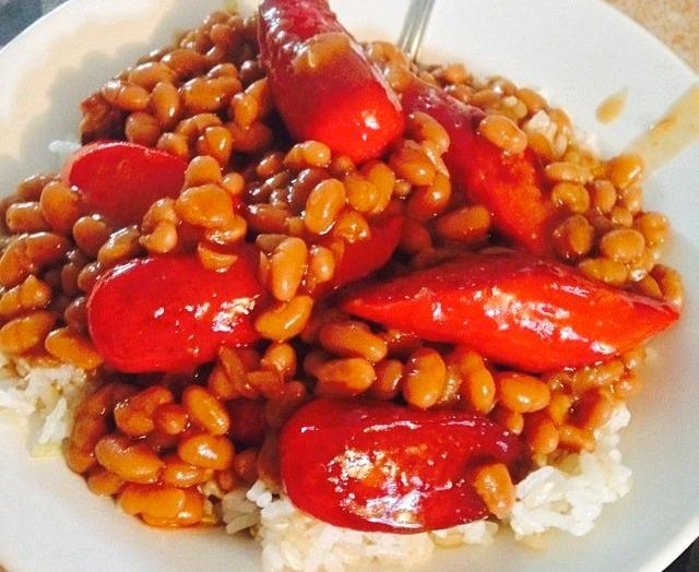 lutong bahay recipe-hotdog pork and beans