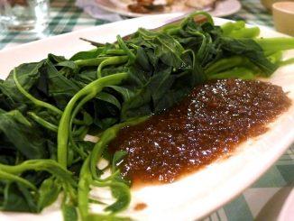 lutong bahay recipe-kangkong with bagoong