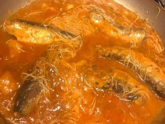 lutong bahay recipe-sardines with misua