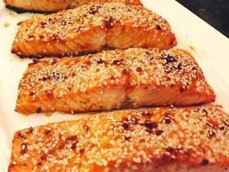 lutong bahay recipe-sesame salmon