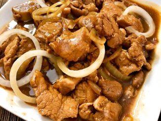 pork bistek - lutong bahay recipe
