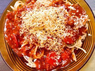 lutong bahay - filipino style spaghetti
