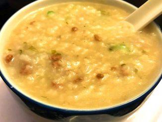 lutong bahay recipe-beef congee