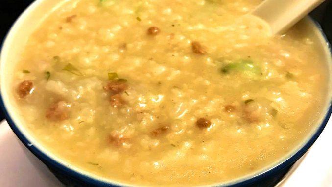 beef congee  lutong bahay recipe