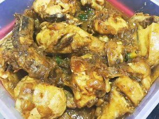chicken binagoongan - lutong bahay